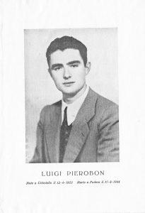 Ricordo funebre di Luigi Pierobon