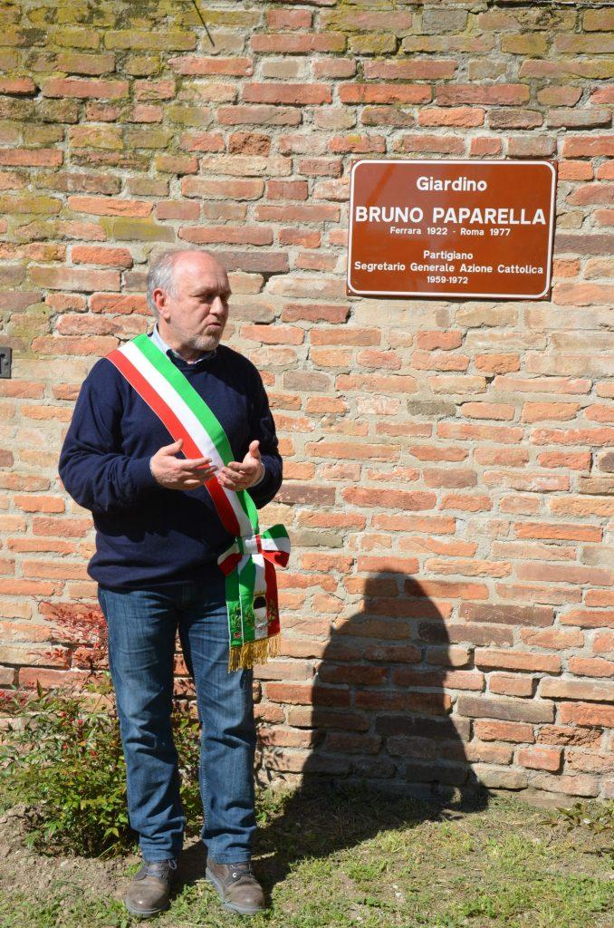 Ferrara 2019. Inaugurazione di un giardino pubblico alla memoria di Bruno Paparella
