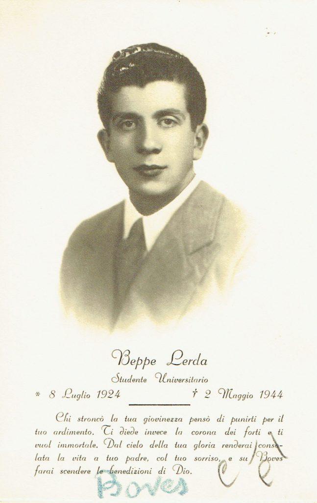 Ricordo funebre di Giuseppe Lerda
