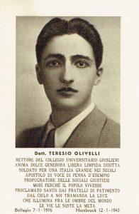 Ricordo funebre di Teresio Olivelli