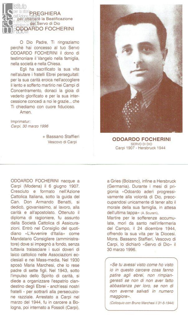 Ricordo funebre di Odoardo Focherini