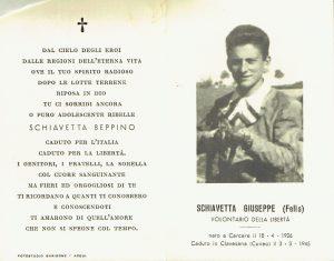 Ricordo funebre di Giuseppe Schiavetta