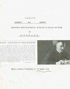 Ricordo di don Antonio Seghezzi