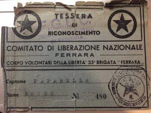 Tessera Cln di Ferrara