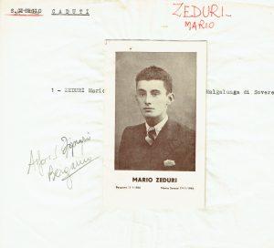 Ricordo funebre di Mario Zeduri