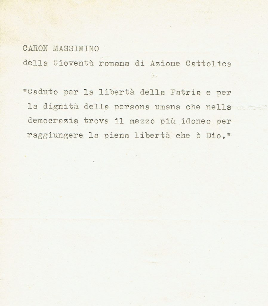 Note su Massimino Caron