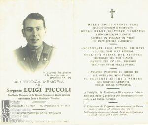 Ricordo funebre di Luigi Piccoli