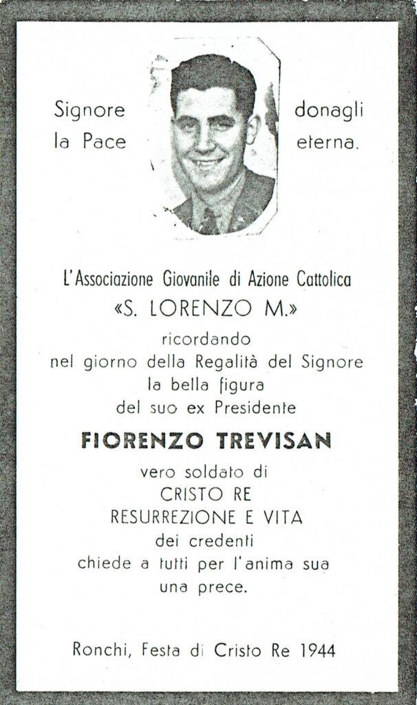 Ricordo funebre di Fiorenzo Trevisan
